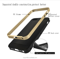 Hybird mobile phone accessories case for iPhone5 5S 5C SE separate metal color pc with antiskid TPU back Koolife Armor