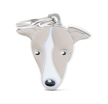 Custom Shape Cheap Metal Pet Tags For Dogs(GREYHOUND)