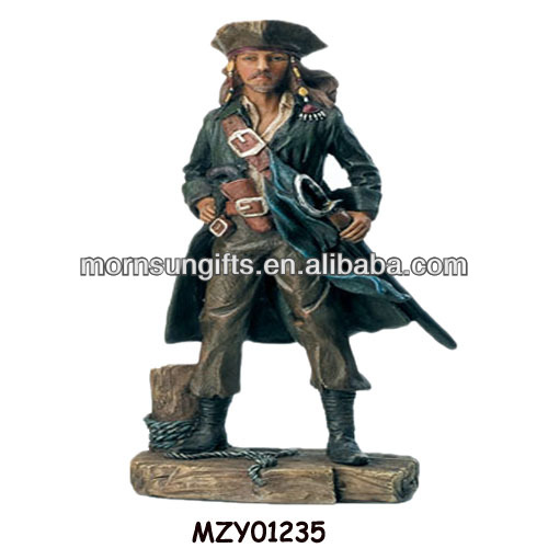 Caribbean Pirate Statue of Poyresin Handmade Customized Figurine