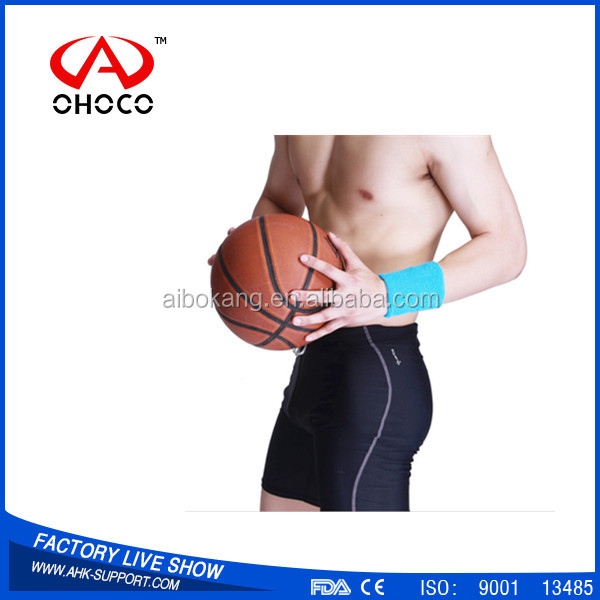 China Alibaba sport sweat band wristbands basketball wrist sleeve
