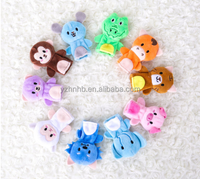 High Quality 10 pcs/lot Baby Plush Toy Finger Puppets Tell Story Animal Doll Hand Puppet Kids Toys with 10 Animal Group