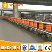 2017 trading safety traffic bollard roller barrier highway metal beam guardrail