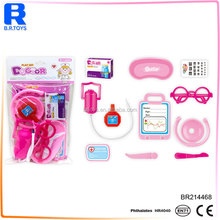 Hot selling plastic preschool childrens toy doctor set