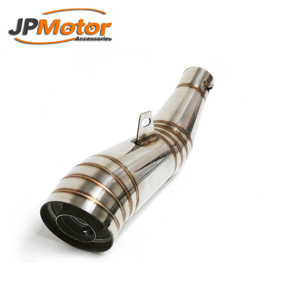 Stainless steel universal motorcycle muffler exhaust for 300cc 400cc 500cc motorcycle engine