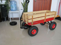 hot sales high quality wooden children wagon tool cart