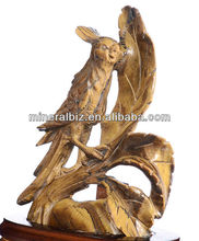 "4.72"" Natural Tiger Eye carved Magpie Carving #AC28,Healing crystals on sale"