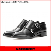 Latest desige fashion Oxford shoes italian formal buckle box upper leather types of shoes wholesale house shoes