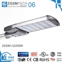 ZGSM Best Sale 200W LED Street Light UL cUL CE GS CB SAA IP66 IK10 35W-300W Outdoor LED Street Lighting