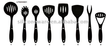 nylon kitchen utensils-rubber &S/S handle