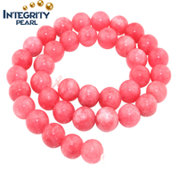 4mm 6mm 8mm 10mm 12mm semi-precious gemstone beads natural pink jade