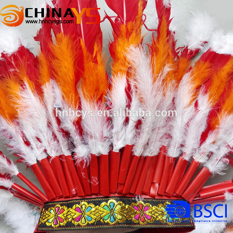 China Supplier Carnival Feathered Headdress in customized sizes