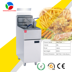 China wholesale deep fryer gas/potato chips fryer machine price/gas fryer