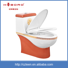 Promotion chinese cheap one piece sanitary modern woman pink toilet