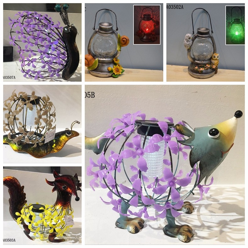 Animal design decoration solar garden light Metal Solar Power Garden Decoration
