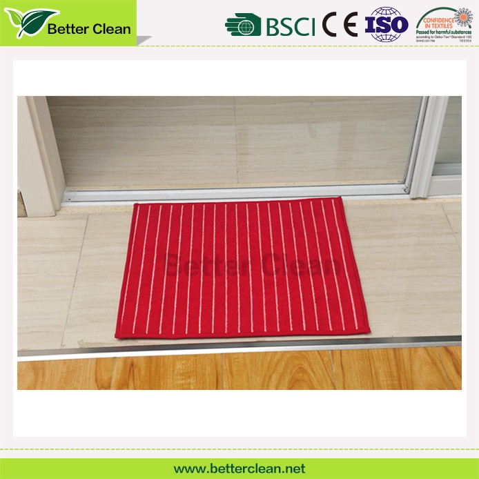 Ultimate TPR foam backed stripe design microfiber water absorption home carpet flooring clean kitchen sink mat