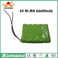 2016 new arrival 6V 600mAh Cordless Phone Rechargeable Ni-MH Battery For Uniden