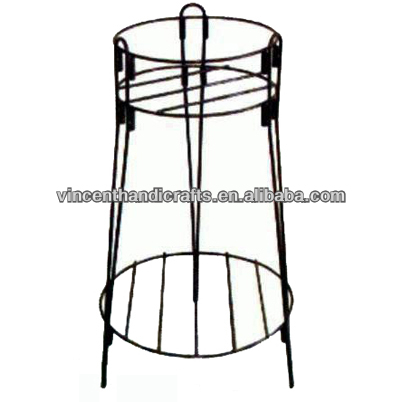 Home & garden two tiers primitive metal planter rack