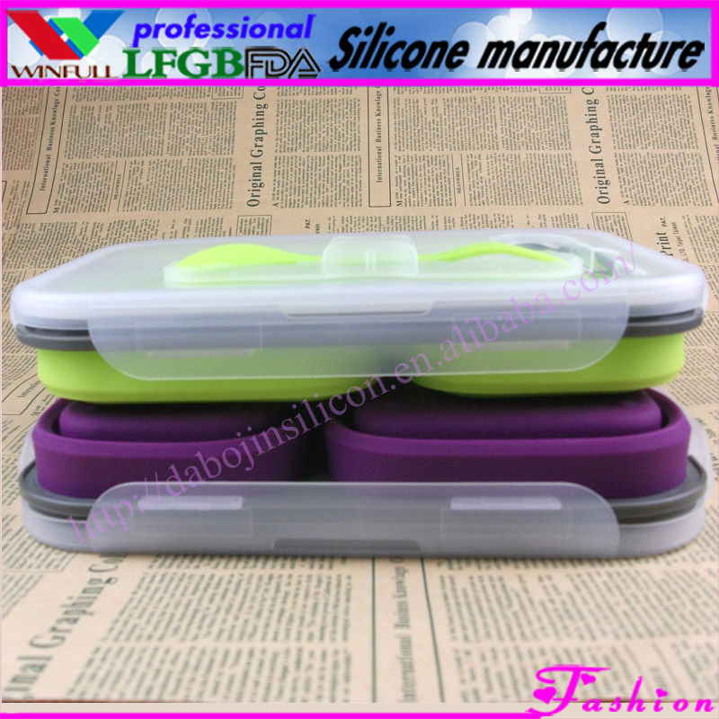 Unbreakable microwave safe silicone bowls&popular lunch box