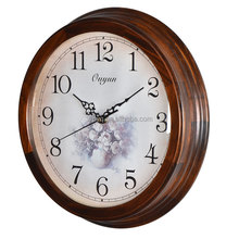 16 inch Wooden Large Digital Wall Clock Wholesale Vintage Wall Mounted Clock
