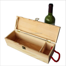 China Factory Wooden Wine Crate Beer Bottles Gift Storage Boxes Christmas Wine Bottle Gift Box