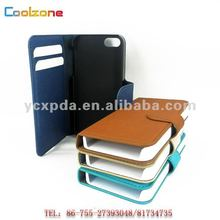 Card slot PC+mink texture PU leather mobile phone cases for iphone5