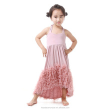 Wholesale Adorable Pink Flower children baby girl birthday dresses frock in summer party dresses for 8 years old girls