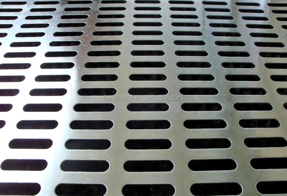 Round Square Rectangular Slotted Plum Blossom Holes Perforated Metal Mesh Sheet