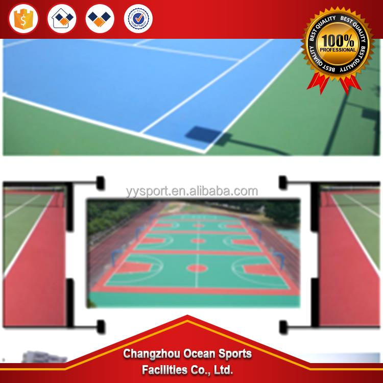 High quailty stadium field material , sport venue floor surface acrylic materials