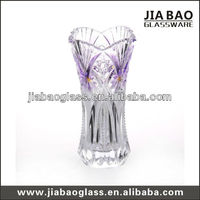 glass vase with purple spray,Elegant beautiful vase (GB1507NW-2-PM)