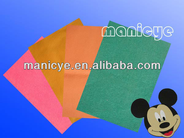 colour craft polyester felt/polyester color felt/felt fabric for handworking