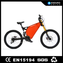 Enduro ebike, full suspension 26 inch 48v 1000w Bafang mid drive full size electric motorcycle