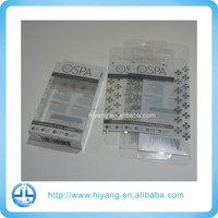 printed clear transparent pvc plastic cosmetic case for packaging