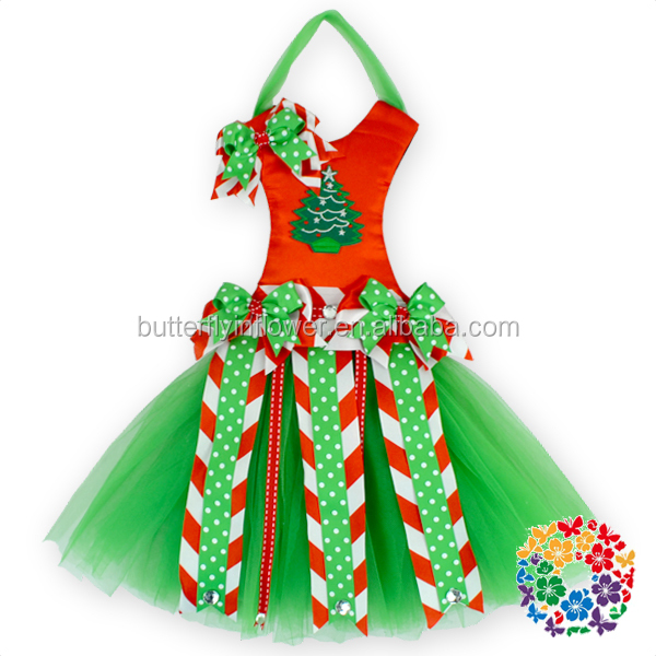New Christmas Items Christmas Tree Hair Bow Holder ,Christmas Red Green White Snowflake Tutu Bow Holders