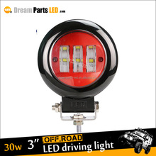 High quality car working light 30w Round led Spotlights for off-road Jeep