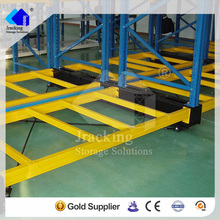 Flexible Ailse Saving Q235 Steel Automatic Storage Electric Mobile Racking System