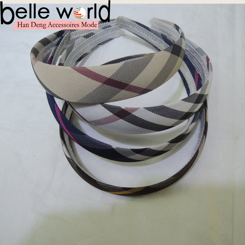 Plaid Tartan Grid Ribbon Headband Hair Hoop Check Hair Accessories