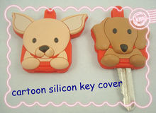customized cartoon silicon key cover