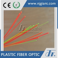 red and yellow Fluorescence optic fiber for sight fiber optic thread