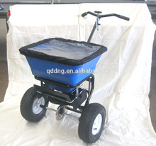 manual power broadcast salt spreader fertilizer spreader