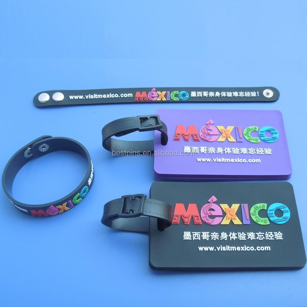 Personalizado Pvc Etiqueta De Bagagem de Viagem Tag Nome Cartões de Embarque Para O Saco de Silicone