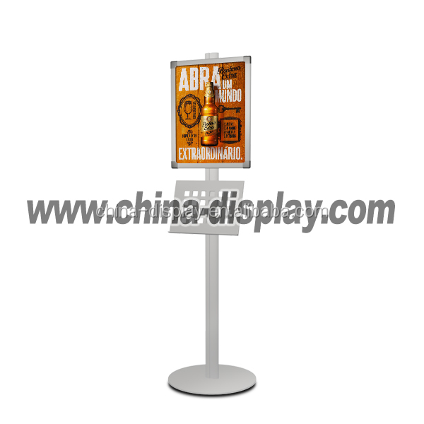 advertising outdoor poster stand double side water based pavement sign 46inch led backlight network lcd poster