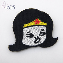 washable elbow girl head shape patches for clothes