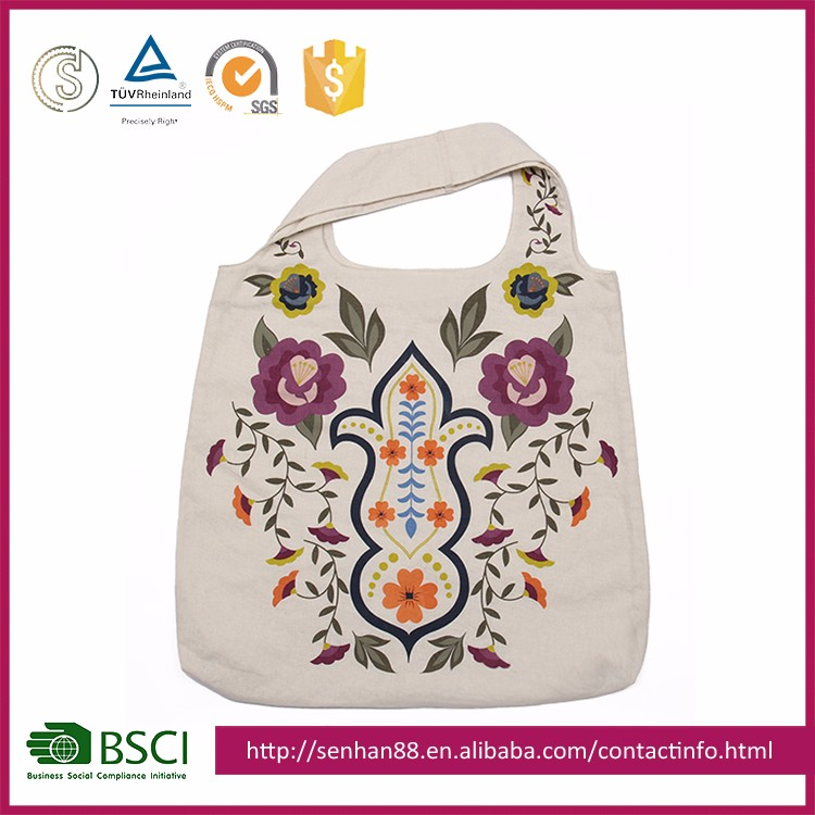 Alibaba China Wholesale Lady Canvas Shopping Bags 2016 For Shopping/Promotion/Gift