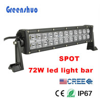 "Auto parts!Top Sell Dual Rows LED 14"" 72W combo beam Light Bar With Strong Side Brackets High Power Led Work"