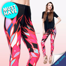 sexy wholesale printed tropical ladies ready stock FANTASY leggings wholesalers in tirupur for ladies fashion wear