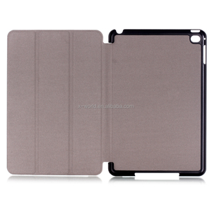 Sleep function heat press magnet stand premium map leather cover for ipad mini 4