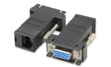 Wholesale VGA 15pin female to RJ45 8P8C female adapter