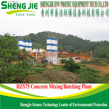 HOT SALE HZS 75 Concrete Batching Plant With PLD 2400 Batching machine