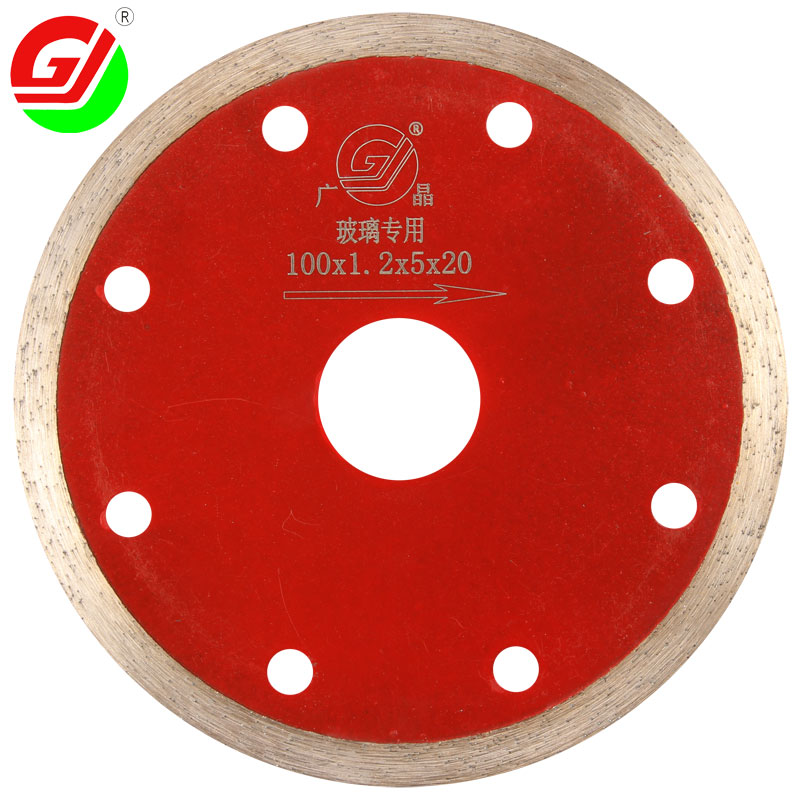 Guangzhou popular 4 inch 100mm high efficiency hot press cutter <strong>blade</strong> for wet cutting glass on angle grinder
