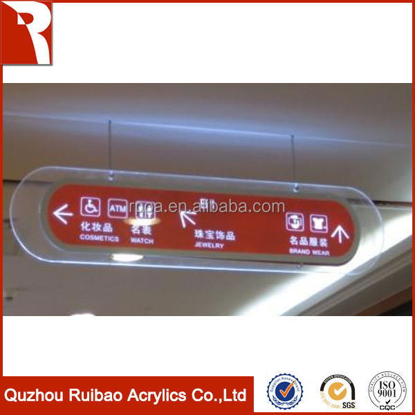 rpoa factory direct sale high gloss indoor sign in acrylic plastic sheet